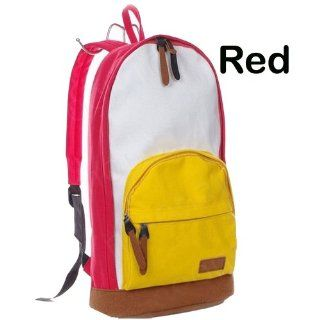 School Bags for Teenagers Korean Version Fashion College Canvas Backpacks School Bag Cute Colorful/travel Shoulder Bag for College/ Women Trendy/teen Girls Color Red: Everything Else