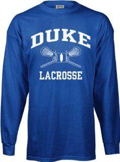 Duke Blue Devils Perennial Lacrosse Long Sleeve T Shirt  Athletic T Shirts  Sports & Outdoors