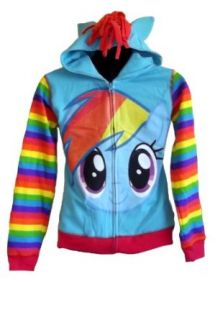 My Little Pony Rainbow Dash Youth Zip Up Hoodie, Large (12/14): Clothing