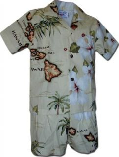 Island Maps Toddler Boy Hawaiian Outfits: Clothing