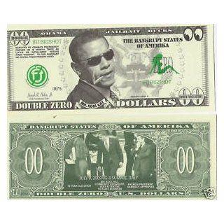 Obama Double Zero Novelty Money Dollar Bill Pad: Everything Else