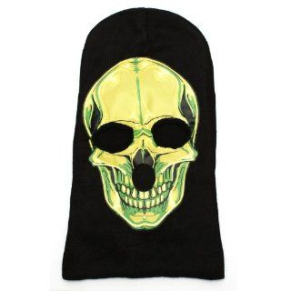 Melody Evil Satanic Skull Ghost Halloween Mask Black Seamless Knit Mask Skull Face Hooded Mask  Other Products