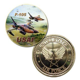 USAF F 105 Thunderchief airplane Printed Challenge coin: Everything Else