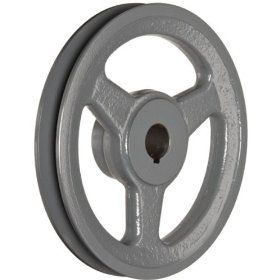 SPA 106X1 CI Ametric� Metric Cast Iron V Belt Pulley, For SPA Profile V Belt, 1 Groove, 106 mm Pitch Diameter, (Mfg Code 1 033) Industrial & Scientific