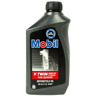 Mobil 1 V Twin 20W 50 Motorcycle Oil: Automotive