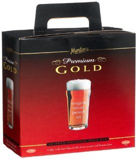 Muntons Premium Gold 40 Pint Beer Kit, Smugglers Special Premium Ale, 113 Ounce Box : Ale Recipe Kits : Grocery & Gourmet Food