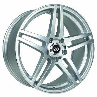 18x8 Enkei RSF5 (Silver Machined) Wheels/Rims 5x114.3 (479 880 6550SM) Automotive