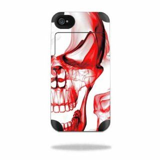 Protective Vinyl Skin Decal Cover for Mophie Juice Pack Air Apple iPhone 4/4S Battery Case Sticker Skins Melting Skulls Electronics