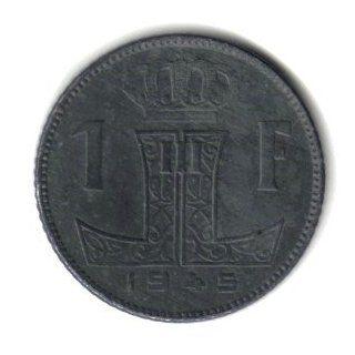 1945 Belgium 1 Franc Coin KM#128   World War II