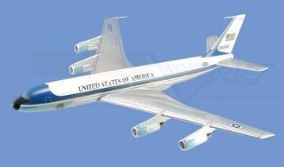 "Boeing VC 137, ""Air Force One"" Aircraft Model Mahogany Display Model / Toy. Includes desk stand. Toys & Games"