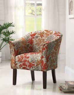 Coaster Club Chair in Autumn Leaf Pattern   Armchairs