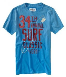 Aeropostale Mens 34Th Surf Graphic T Shirt Heavenlyblue Xs at  Men�s Clothing store