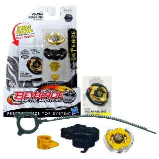 Hasbro Year 2011 Beyblade Metal Masters High Performance Battle Tops   Defense 145D BB P01 VULCAN HORUSEUS with Face Bolt, Horuseus Energy Ring, Vulcan Fusion Wheel, 145 Spin Track, D Performance Tip and Ripcord Launcher Plus Online Code: Toys & Games