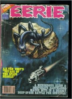 Eerie. Warren Magazine. February 1983. No. 139. Single Issue Comic. Von Vogt's Voyage of the Space Beagle. A Murderous Alien & Desperate Earthlings Match Wits in a Deadly Deep Space Battle for Survival Warren Magazine Books