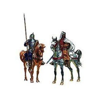 Medieval Era Arab Warriors (15 Mounted w/3 Camels & 12 Horse) 1/72 Italeri: Toys & Games