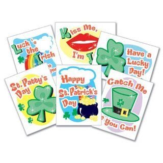St. Patricks Day Glitter Tattoos   144 per pack Toys & Games