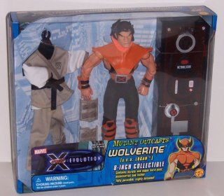 X Men Evolution Mutant Outcasts Wolverine A.K.A. Logan 8in Collectible Action Figure: Toys & Games