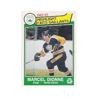 1983 84 O Pee Chee #151 Marcel Dionne HL: Sports Collectibles