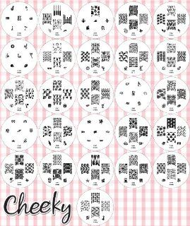 NEW 2012 Cheeky Set of 26 Nail Art Nailart Polish Stamp Stamping Manicure Image Plates Accessories Set Kit With Total of 161 Nail Art Designs. Beauty