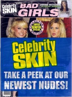 Celebrity Skin Magazine #157 BAD Girls Tara Reid, Paris Hilton: High Society: Books