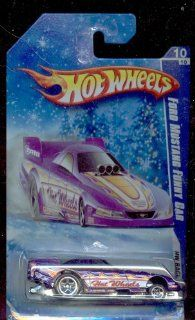 Hot Wheels 2010 158/240 Hw Racing 10/10 Ford Mustang Funny CAR Snow Scene Series 164 Scale 164 Scale Toys & Games