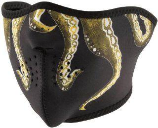Zan Headgear Neoprene Half Face Mask , Gender: Mens/Unisex, Primary Color: Black, Distinct Name: Octopus, Size: OSFM WNFM166H: Automotive