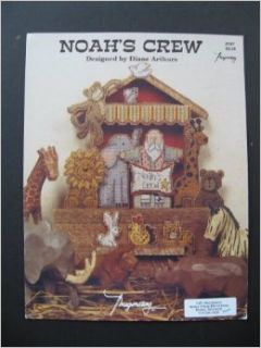 Noah's Crew Counted Cross Stitch Pattern designed by Diane Arthurs for Imaginating #167: Books