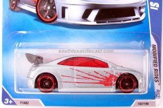 Hot Wheels 2009 Modified Rides: Honda Civic Si   Silver with Red Splash #162: Toys & Games