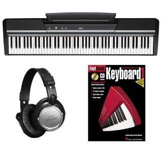 Korg SP 170s Black Digital Piano BONUS PAK w/ Headphones & Lesson Book: Musical Instruments