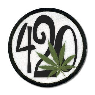 420 Weed Marijuana Hemp Pot Leaf 4 inch Sew on Patch: Everything Else