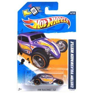 Hot Wheels   Custom VolksWagen Beetle (Purple)   HW Racing 12   6/10 ~ 176/247 [Scale 164] Toys & Games