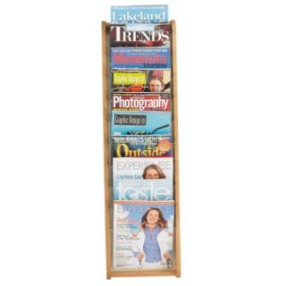 10 Magazine Pocket Wall Magazine Rack   Commercial Magazine Racks
