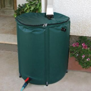 Heaven & Earth 52 Gallon Knock Down Rain Water Barrel   Rain Barrels