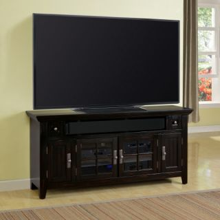 Parker House Tahoe 62 in. TV Console   Vintage Burnished Black   TV Stands