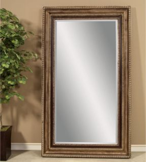 Champagne & Black Leaning Floor Mirror   50W x 86H in.   Floor Mirrors