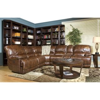 Parker House Mars Leather Sectional   Coffee   Sectional Sofas