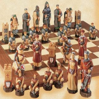 The Crusades Hand Painted Chess Pieces by Studio Anne Carlton   Chess Pieces