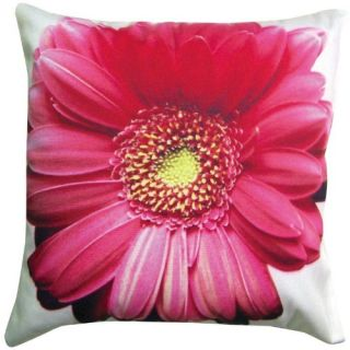 Magnolia Casual 14 x 14 Gerbera Daisy Pillow   Wicker Cushions