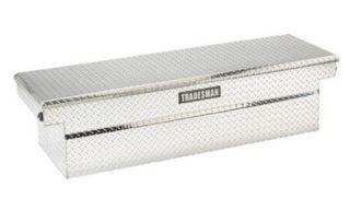 Tradesman Full size Single Lid Truck Aluminum Cross bed Tool Box Push Button   Truck Tool Boxes