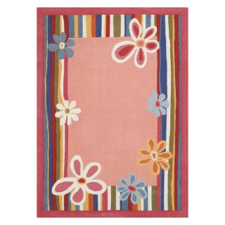 Home Dynamix K1008 Kidz Image Floral Area Rug   Strawberry Pink   Kids Rugs