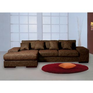 Katz Brown Upholstered Sectional Sofa   Sectional Sofas