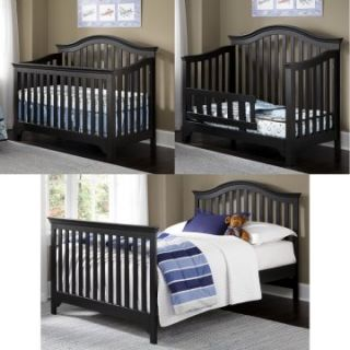 Creations Baby Mesa 4 in 1 Convertible Crib Package   Black   Cribs