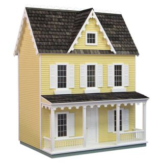 Real Good Toys Ready To Decorate Vermont Farmhouse Dollhouse Yellow Collector