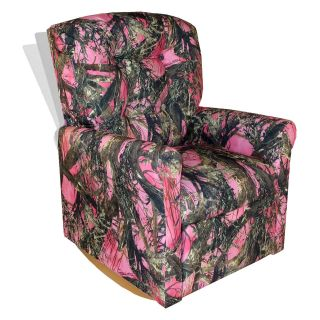 Dozydotes 4 Button Rocker Recliner   Camouflage Pink with True Timber Fabric   Chairs