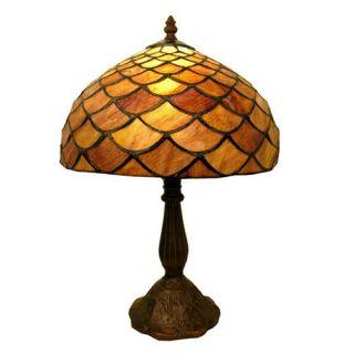 Tiffany Style Amber Shell Table Lamp   Tiffany Table Lamps