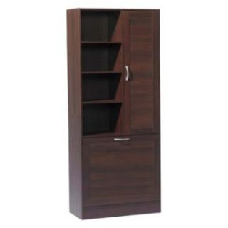 4D Concepts Espresso Bathroom Storage Tower with Hamper   Linen Cabinets