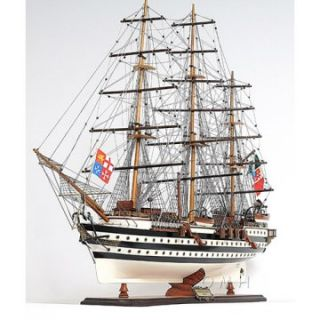 Old Modern Handicraft Amerigo Vespucci Painted Ship   Model Boats & Accessories