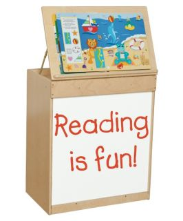Wood Designs Big Book Display with Markerboard   Natural   Kids Bookcases