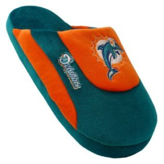 Comfy Feet NFL Low Pro Stripe Slippers   Miami Dolphins   Mens Slippers