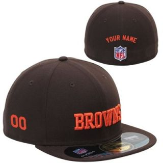 New Era Cleveland Browns Mens Customized On Field 59FIFTY Football Structured Fitted Hat